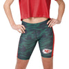 Kansas City Chiefs NFL Womens Camo Bike Shorts