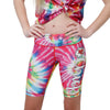 Kansas City Chiefs NFL Womens Tie-Dye Bike Shorts
