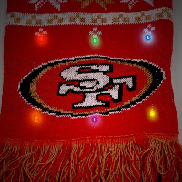 San Francisco 49ers NFL Light Up Scarf