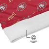 San Francisco 49ers NFL Mini Script Fleece Gaiter Scarf