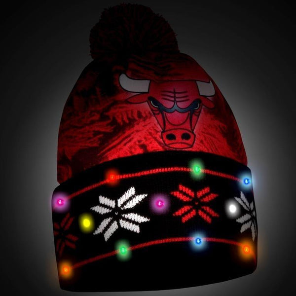 Chicago Bulls NBA Big Logo Light Up Beanie And Scarf Set