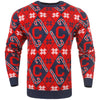 Cleveland Indians MLB Candy Cane Repeat Crew Neck Sweater