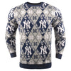 New York Yankees MLB Candy Cane Repeat Crew Neck Sweater