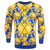 Golden State Warriors NBA Candy Cane Repeat Crew Neck Sweater