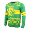 Oregon Ducks NCAA 2 Stripe Big Logo Light Up Sweater
