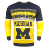 Michigan Wolverines NCAA Stadium Light Up Crew Neck Sweater