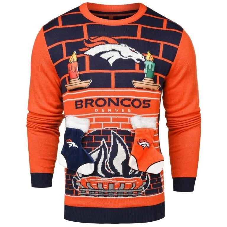 ae9bf22c690 Denver Broncos NFL Ugly 3D Holiday Sweater