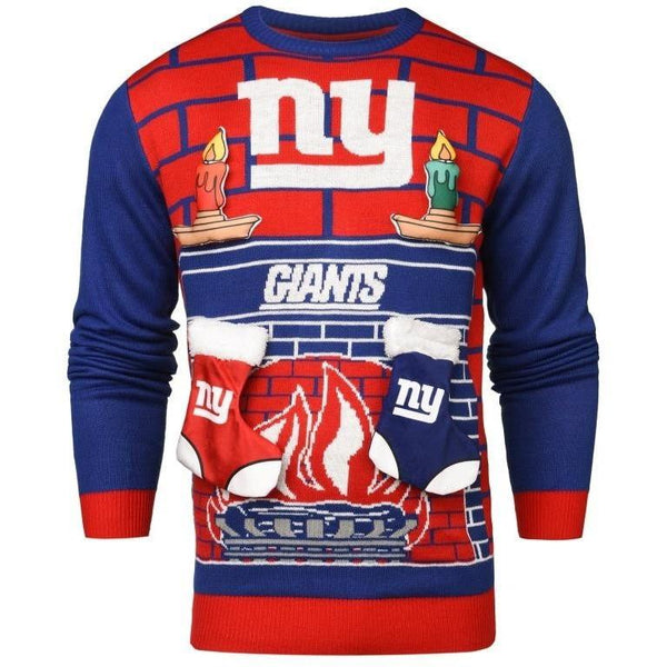 New York Giants NFL Ugly 3D Holiday Sweater ef48465ff