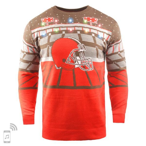 newest 7b041 fc790 NFL Light Up Ugly Christmas Sweater With Bluetooth Speaker - Pick Your Team!