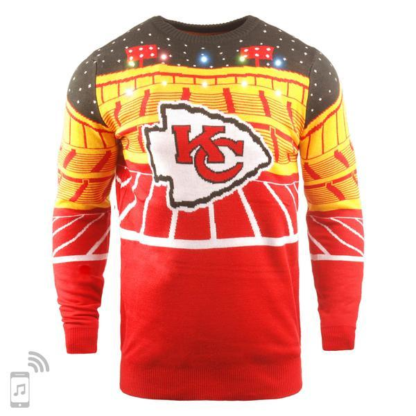 newest 1c7aa 7cad9 NFL Light Up Ugly Christmas Sweater With Bluetooth Speaker - Pick Your Team!