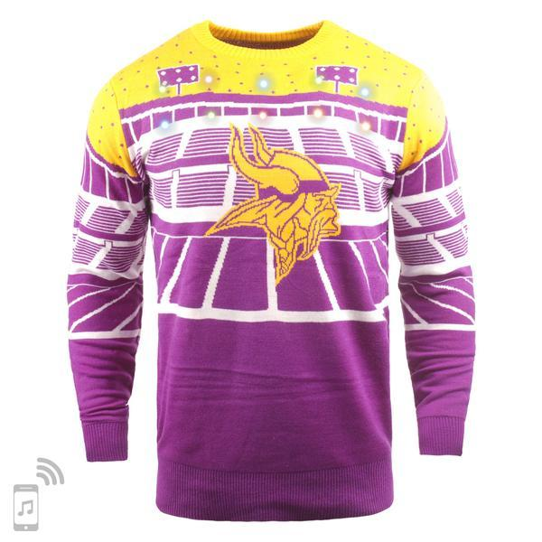 newest e43ae e9e03 NFL Light Up Ugly Christmas Sweater With Bluetooth Speaker - Pick Your Team!
