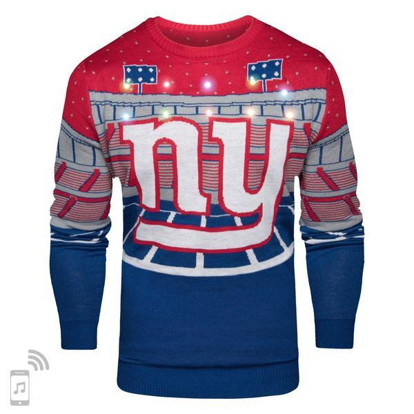 newest f0ea0 b357d NFL Light Up Ugly Christmas Sweater With Bluetooth Speaker - Pick Your Team!