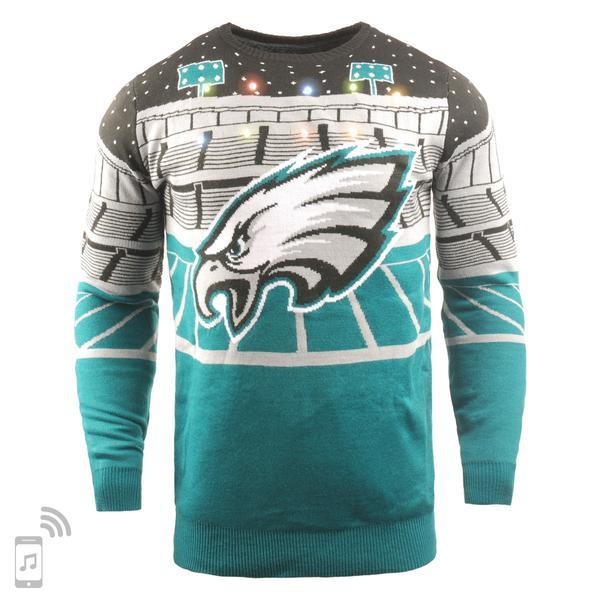newest 86748 dea15 NFL Light Up Ugly Christmas Sweater With Bluetooth Speaker - Pick Your Team!