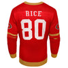 San Francisco 49ers NFL Jerry Rice Retired Player Face Sweater