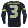 Seattle Seahawks NFL Name And Number Crew Neck Sweater