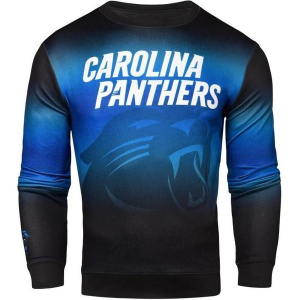 689ed9a10 Carolina Panthers NFL Mens Printed Gradient Crew Neck Long Sleeve Shirt
