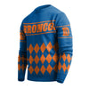 Denver Broncos NFL Wordmark Retro Ugly Sweater