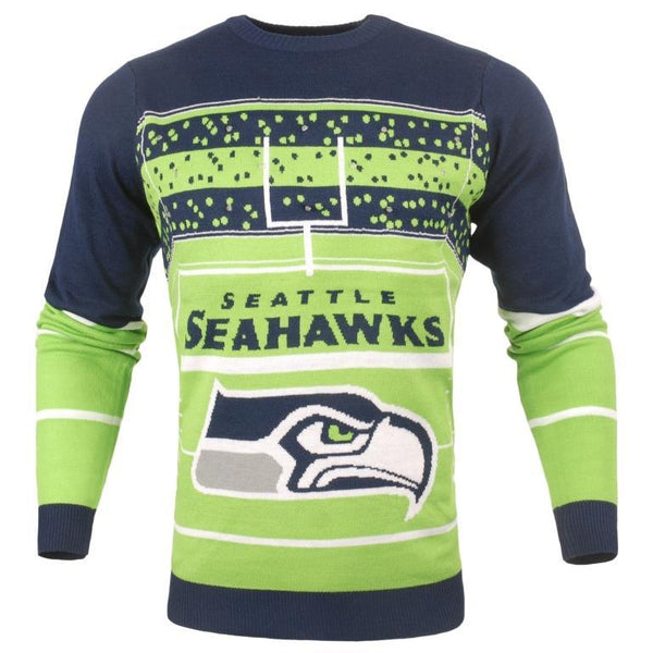 Seattle Seahawks NFL Mens Stadium Light Up Crew Neck Sweater 1f5b529d5
