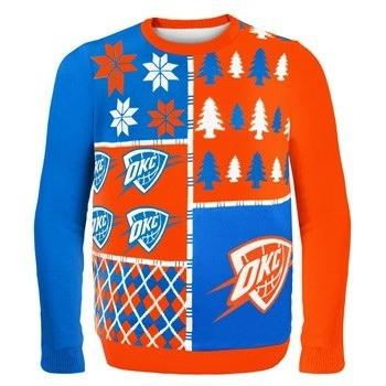 pretty nice 78a7d a26ab Busy Block Ugly Winter Sweater Oklahoma City Thunder