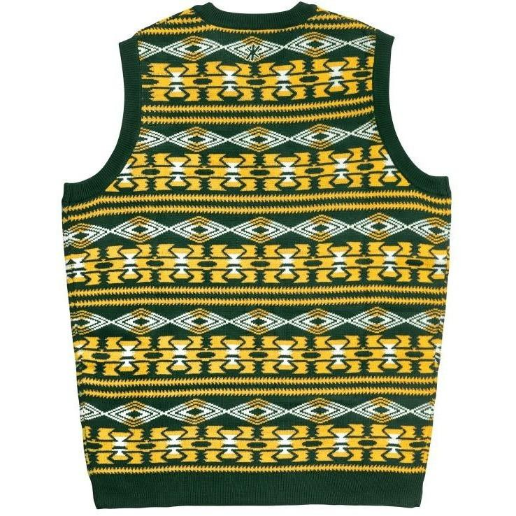 buy popular 4666e 2823d Green Bay Packers Aztec Print Ugly Sweater Vest