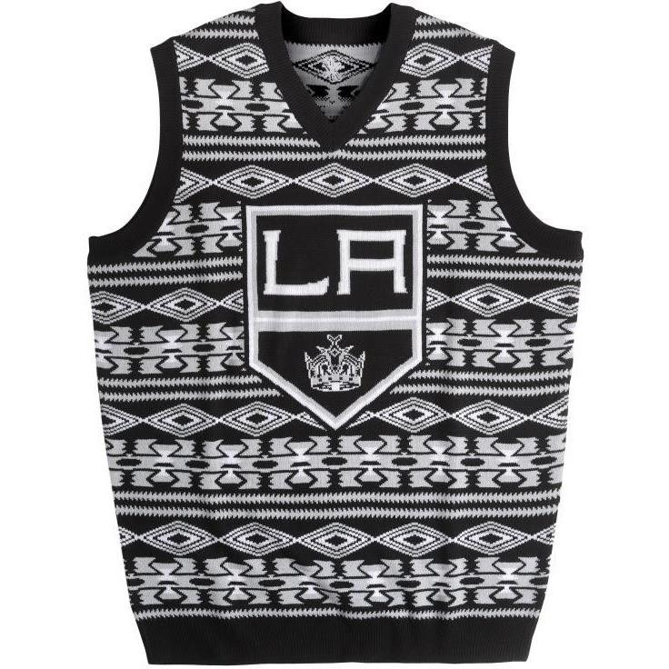 super popular a05e4 08982 Los Angeles Kings Aztec Print Ugly Sweater Vest
