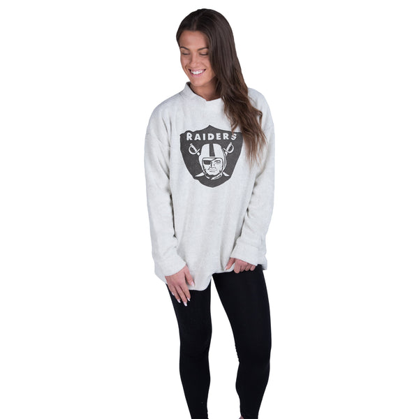 e5be14a4ebcc Oakland Raiders NFL Womens Oversized Comfy Sweater