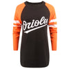 Baltimore Orioles MLB Womens Stripe Sleeve Tunic