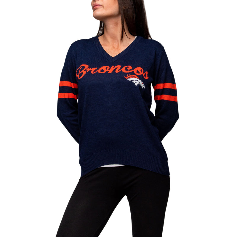 huge selection of f54db 35697 Denver Broncos Womens Vintage Stripe Sweater