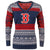 Boston Red Sox MLB Womens Big Logo Aztec V-Neck Sweater
