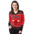 Chicago Bulls NBA Womens Big Logo V-Neck Sweater