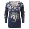 Minnesota Timberwolves NBA Womens Snowflake V-Neck Sweater