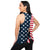 Americana Womens Tie-Breaker Sleeveless Top