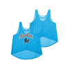 Miami Marlins MLB Womens Burn Out Sleeveless Top