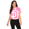 San Diego Padres MLB Womens Highlights Crop Top