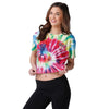 Kansas City Chiefs NFL Womens Pastel Tie-Dye Crop Top