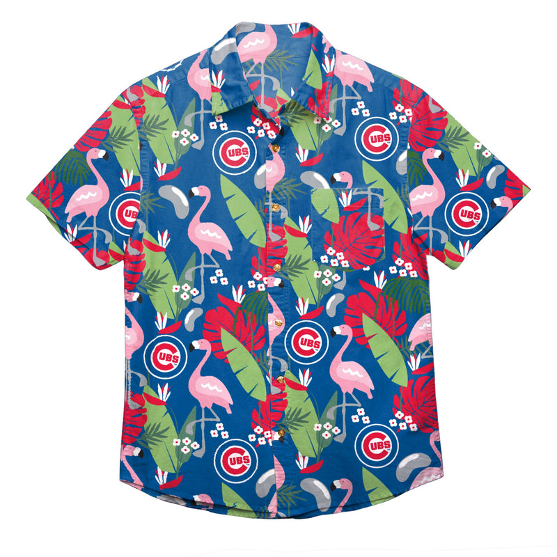 watch 58799 a1315 Chicago Cubs MLB Mens Floral Button Up Shirt