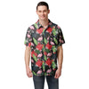 Miami Marlins MLB Mens Floral Button Up Shirt