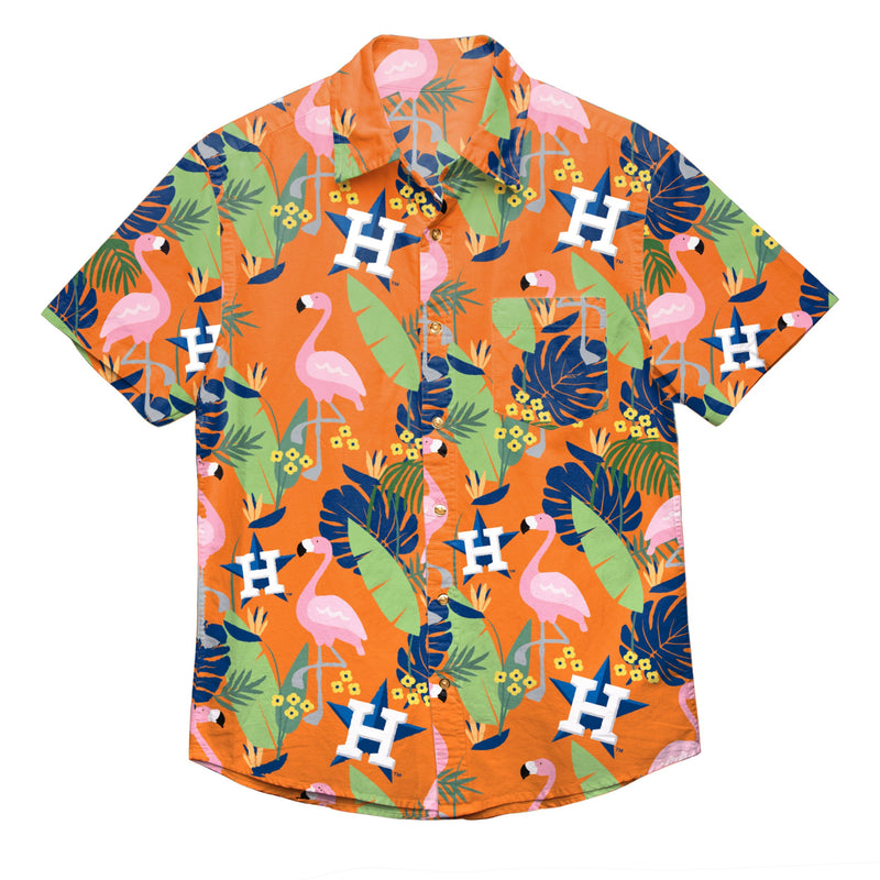 save off db78e c9563 Houston Astros MLB Mens Floral Button Up Shirt