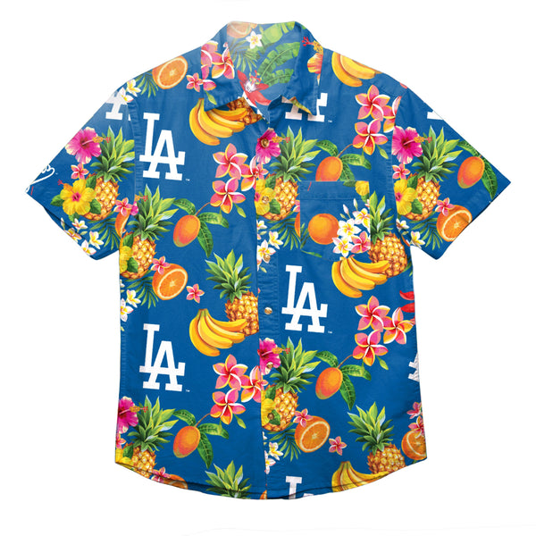 20a4c312f7bc Los Angeles Dodgers MLB Mens Floral Button Up Shirt