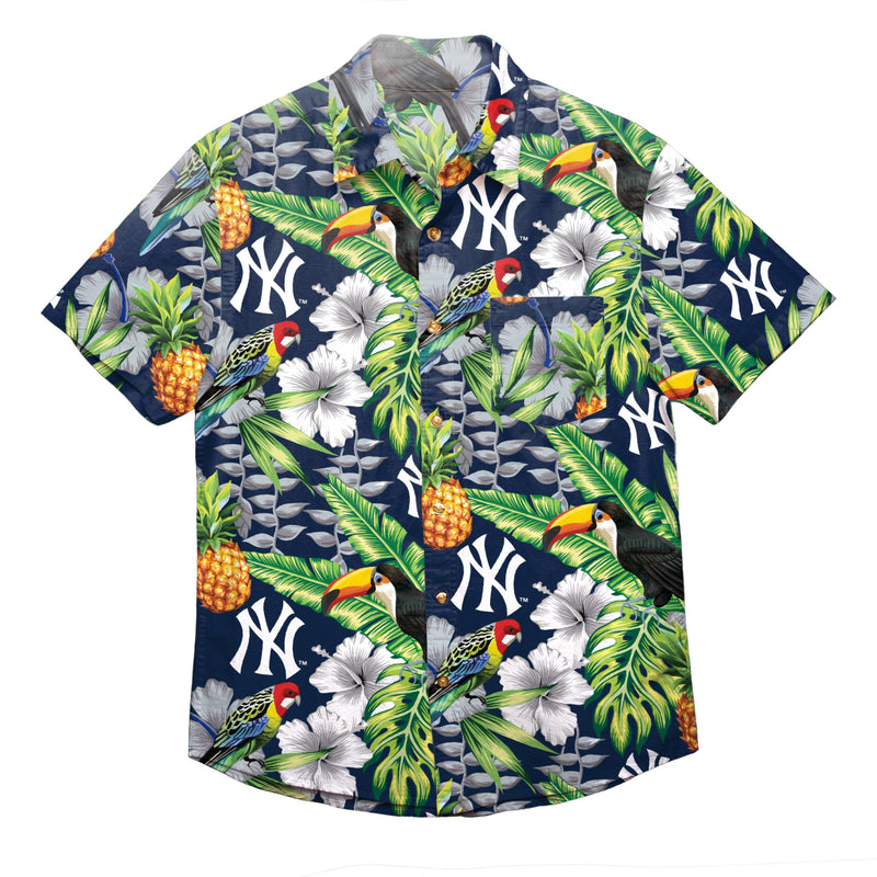best loved 38f74 c9310 New York Yankees MLB Mens Floral Button Up Shirt