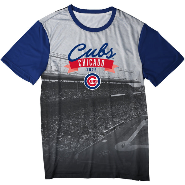 Chicago Cubs MLB Mens Outfield Photo Tee Shirt 0c50a97a4