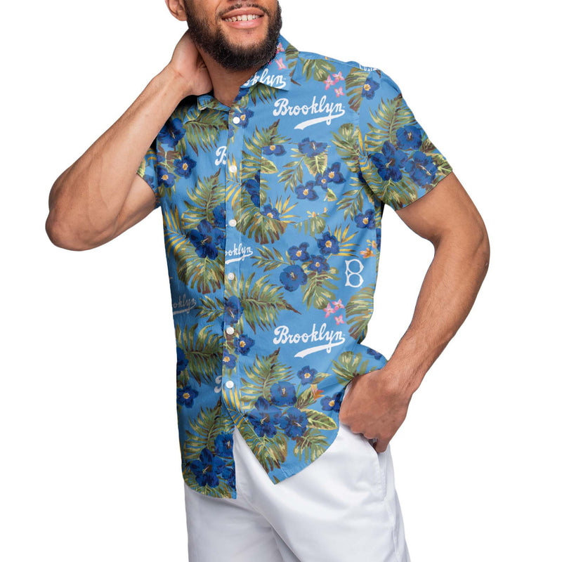 c686a514179 Los Angeles Dodgers MLB Mens Throwback Threads Button Up Shirt