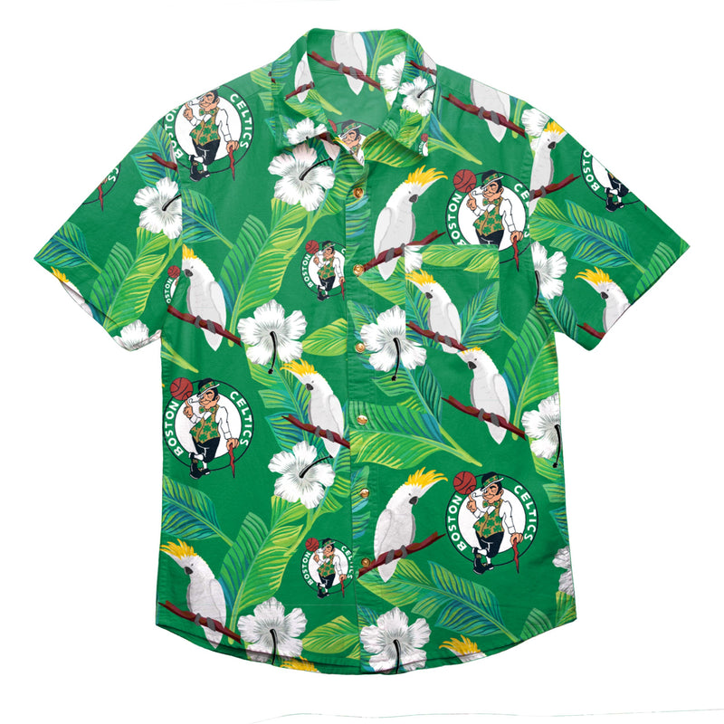 sneakers for cheap b575f 0bb3e Boston Celtics NBA Mens Floral Button Up Shirt