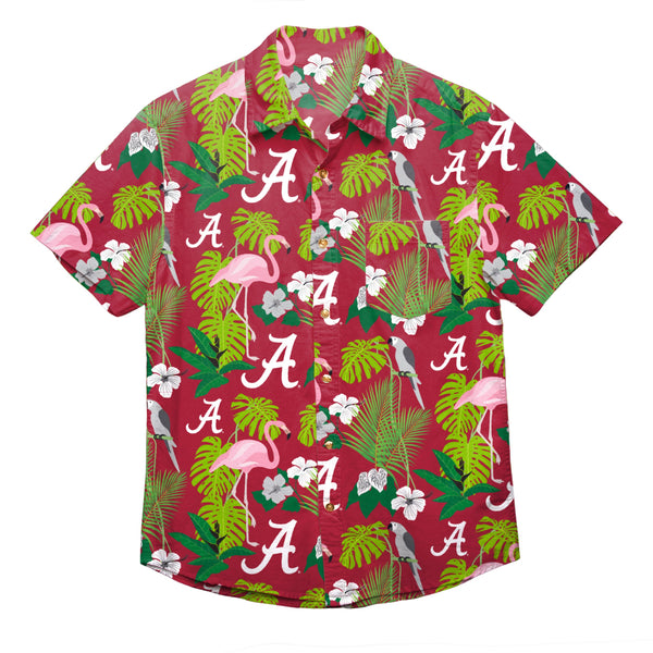 8394c1ec250 Alabama Crimson Tide NCAA Mens Floral Button Up Shirt