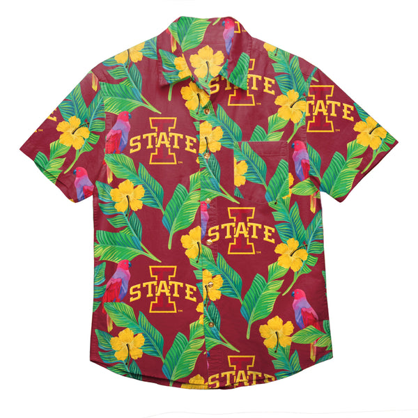 84dc4d0a Iowa State Cyclones NCAA Mens Floral Button Up Shirt