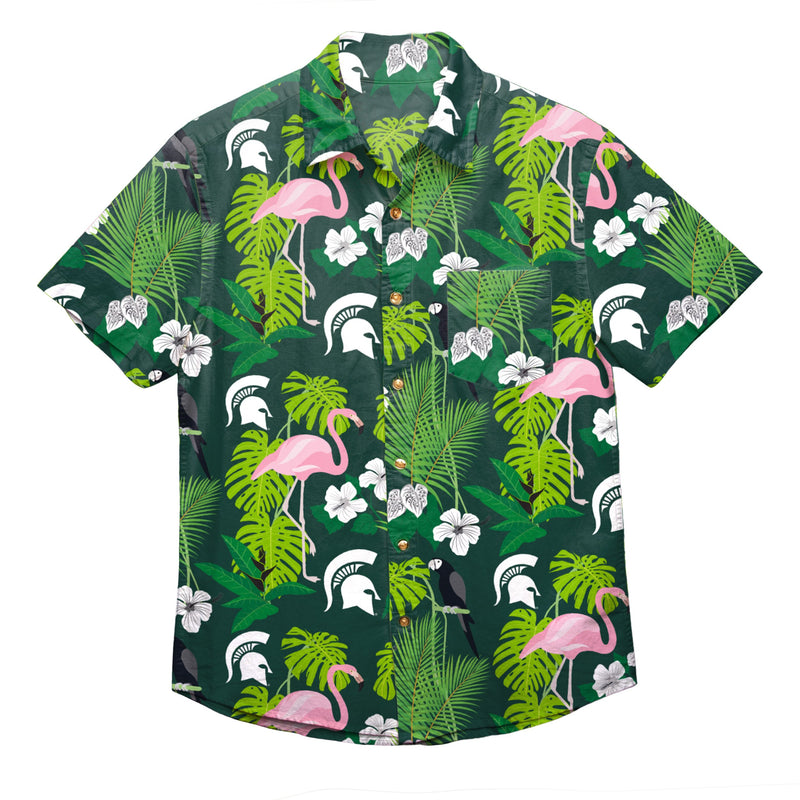 34bc761d Michigan State Spartans NCAA Mens Floral Button Up Shirt (PREORDER - S