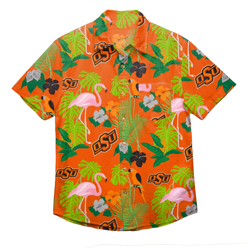 pick up dc305 54476 Oklahoma State Cowboys NCAA Mens Floral Button Up Shirt