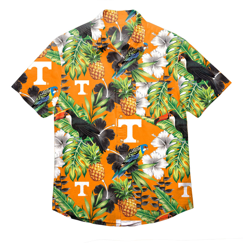 724fe07a Tennessee Volunteers NCAA Mens Floral Button Up Shirt