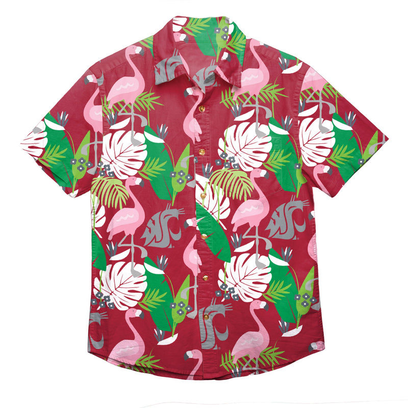 d69396c9 Washington State Cougars NCAA Mens Floral Button Up Shirt (PREORDER -