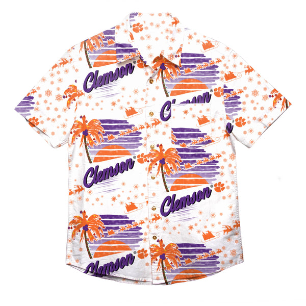 Clemson Tigers NCAA Mens Winter Tropical Button Up Shirt 1470bfdeb